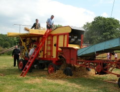 Old Time Threshing Being Demonstrated On A Farm In County Waterford [Click To Enlarge]